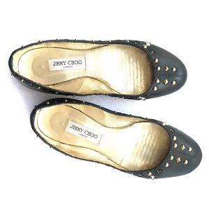 Jimmy Choo leather flat shoes with studs